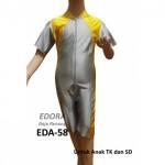 Baju Renang Anak EDA-58 Kuning & Silver