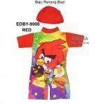 Baju Renang Bayi EDBY-9008 Angry bird Merah