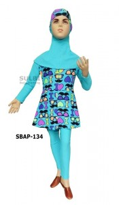 SBAP-134-baju renang muslimah anak perempuan motif
