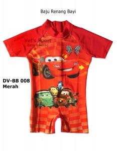 DV-BB 008 Merah-toko vels sport baju renang anak bayi