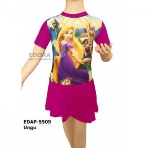 EDAP-5509 Ungu-Baju renang anak perempuan karakter