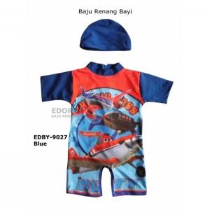 EDBY-9027 Blue-baju renang anak bayi karakter.