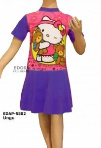EDAP-5502 Ungu-SD-baju renang diving rok karakter anak-anak