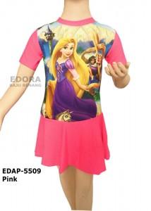 EDAP-5509 Pink-baju renang diving rok anak  edora