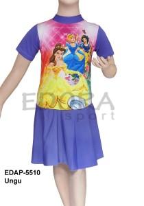 EDAP-5510 Ungu-baju diving rok kids karakter