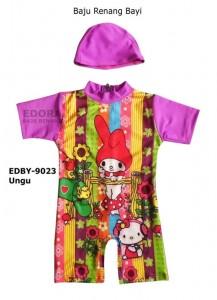 EDBY-9023 Ungu-busana renang edora divinga anak bayi karakter