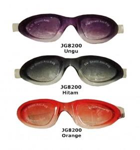 JG8200 Ungu Hitam Orange-kacamata renang dewasa elegan