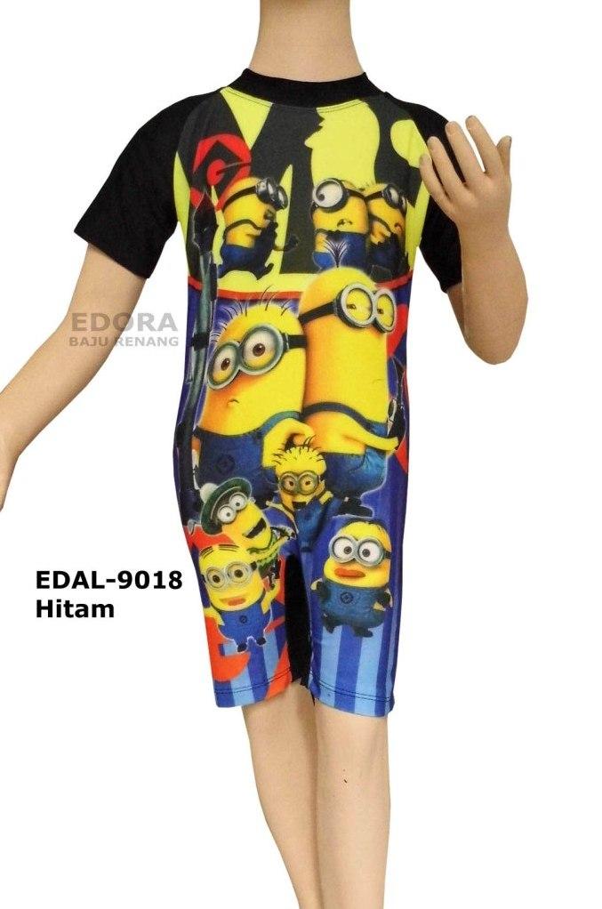 Baju Renang Anak Karakter Edal 9018 Hitam Distributor