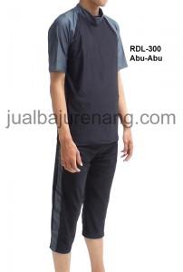 RDL-300 Abu-Abu-rizqy pakaian renang muslim dewasa laki