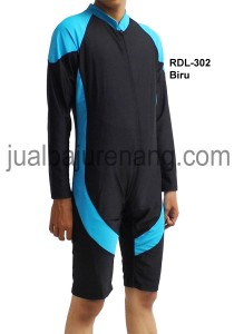 RDL-302 biru-baju renang rizqy diving tangan panjang dewasa