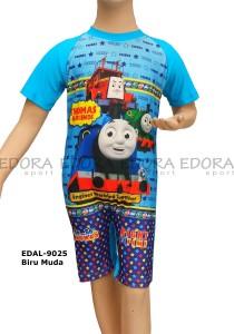 EDAL-9025 Biru Muda-pakaian renang diving anak karakter