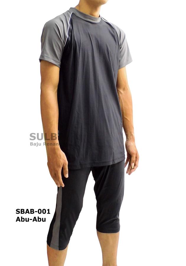 Baju Renang Muslim Laki Sbab 01 Abu Abu Distributor Dan