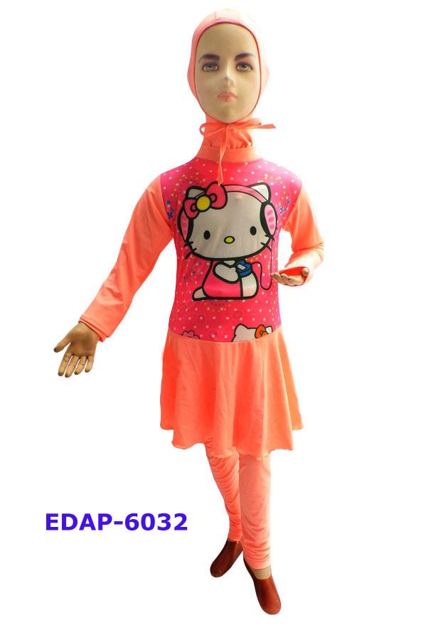 Baju Renang Anak Muslimah Karakter Edap 6032 Salem