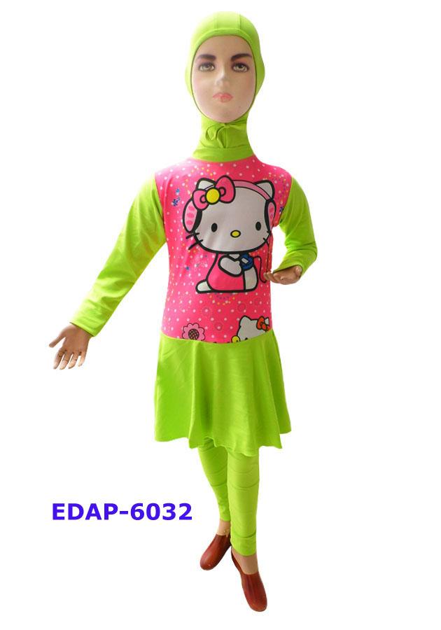 Baju Renang Anak Muslimah Karakter Edap 6032 Distributor