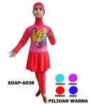 Baju Renang Anak Muslimah Karakter EDAP-6038 (4 Warna)