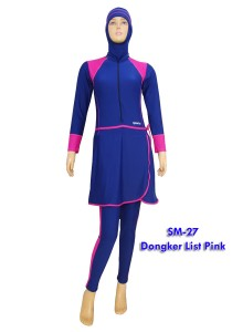 SM-27 Dongker list pink fanta