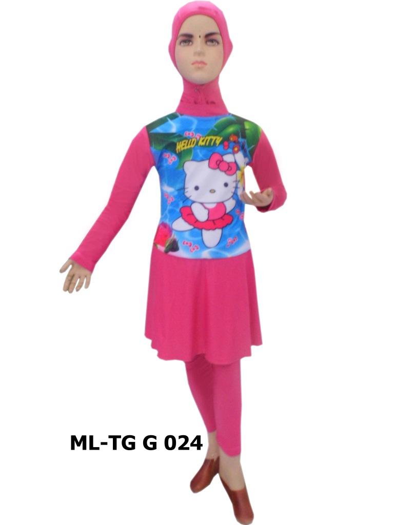 Baju Renang Anak Muslimah Karakter Ml Tg G 024