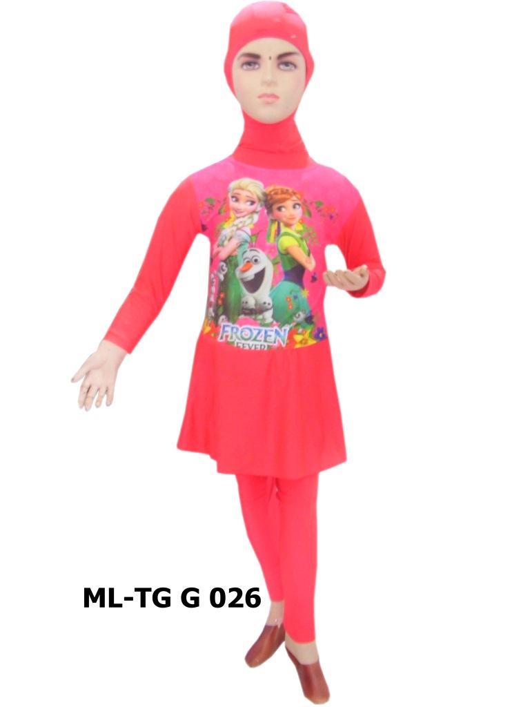 Baju Renang Anak Muslimah Karakter Ml Tg G 026