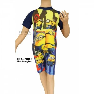 EDAL-9015 Biru Dongker-baju renang diving anak karakter