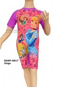 EDAP-5017 Ungu-busana renang diving anak karakter warna ungu