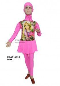 Baju Renang Anak Muslimah Karakter EDAP-6019 Pink