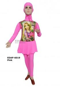 EDAP-6019 Pink-agen pakaian renang anak cewek muslim