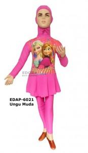 EDAP-6021 Ungu Muda-baju renang muslimah karakter anak perempuan
