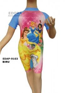 EDAP-9103 Biru-agen perlengkapan busana renang anak perempuan