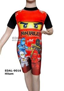 Baju Renang Diving Karakter EDAL-9016 Hitam
