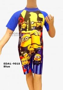 EDAL-9018 Biru-toko edora baju renang diving gambar anak