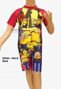 EDAL-9018 Red-grosir busana renang diving pendek anak gambar