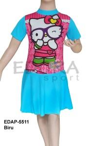 EDAP-5511 Biru-busana renang anak cewek diving rok karakter