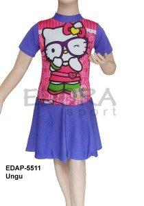 Baju Renang Diving Rok Karakter EDAP-5511 Ungu