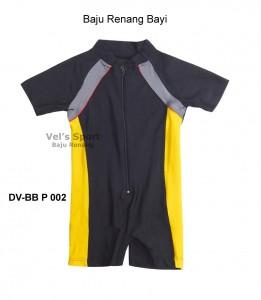 DV-BB P 002-baju renang bayi diving pendek