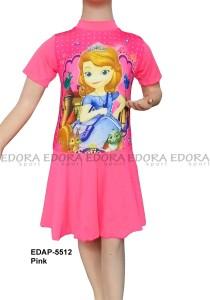 EDAP-5512 Pink-baju renang anak edora diving rok