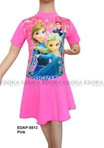 Baju Renang Diving Rok Karakter EDAP-5513 Pink