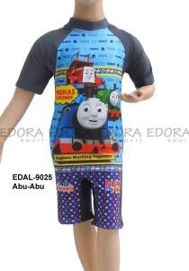 EDAL-9025 Abu-Abu-busana renang diving pendek karakter