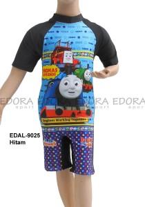 EDAL-9025 Hitam-baju renang diving pendek Thomas