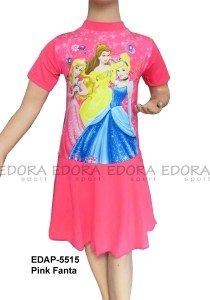 Baju Renang Diving Rok Karakter EDAP-5515 Pink Fanta