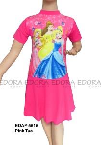 EDAP-5515 Pink Tua-baju renang anak perempuan diving rok gambar
