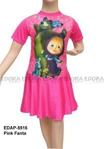 Baju Renang Diving Rok Karakter EDAP-5516 Pink Fanta