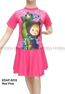 EDAP-5516 Red Pink-agen busana renang anak rok karakter