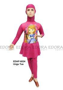 Baju Renang Anak Muslimah Karakter EDAP-6024 Ungu Tua