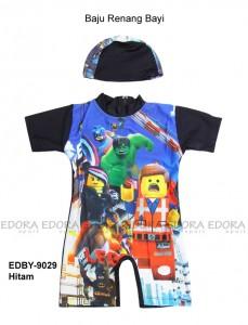 EDBY-9029 Hitam-edora pakaian renang bayi gambar lego