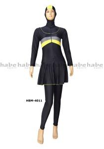HBM-4011-habe sport busana renang muslim wanita polos