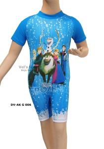DV-AK G 006-baju diving renang anak karakter Frozen