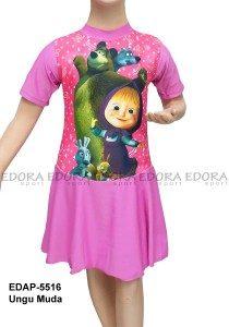 Baju Renang Diving Rok Karakter EDAP-5516 Ungu Muda