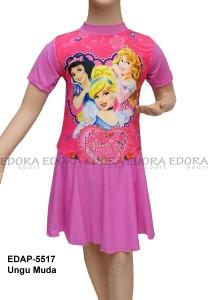 EDAP-5517 Ungu Muda-toko baju renang diving rok anak karakter