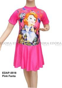 Baju Renang Diving Rok Karakter EDAP-5518 Pink Fanta