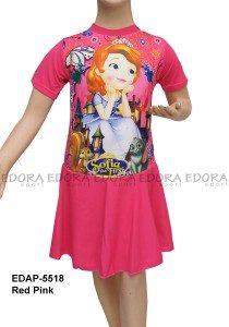 Baju Renang Diving Rok Karakter EDAP-5518 Red Pink